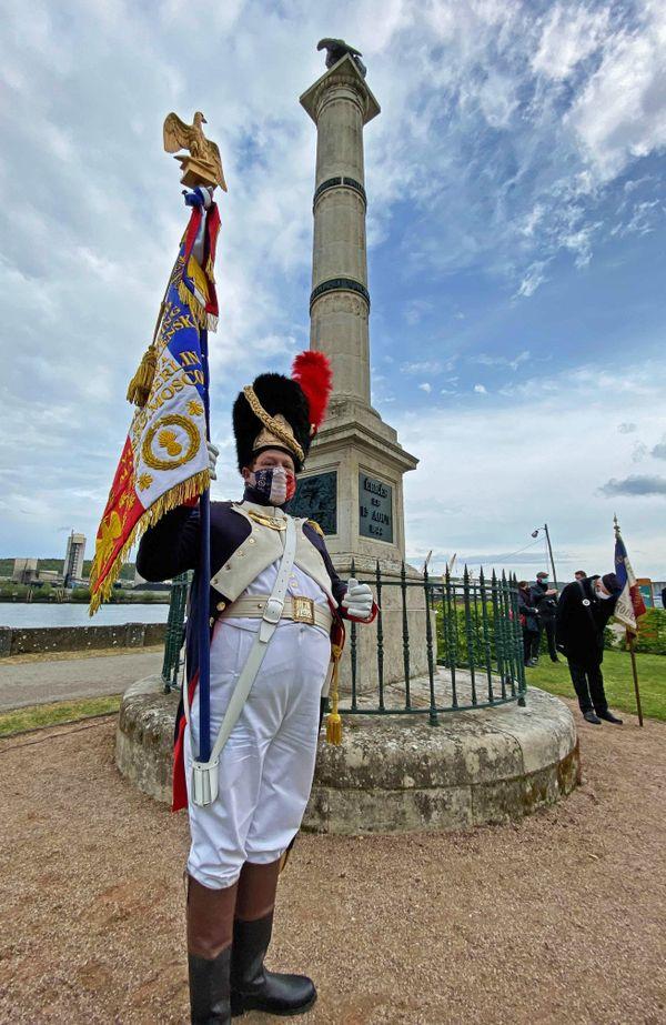 5 mai 2021-  La colonne Napoléon au Val de la Haye où eu lieu le transfert des cendres de l'empereur en 1840