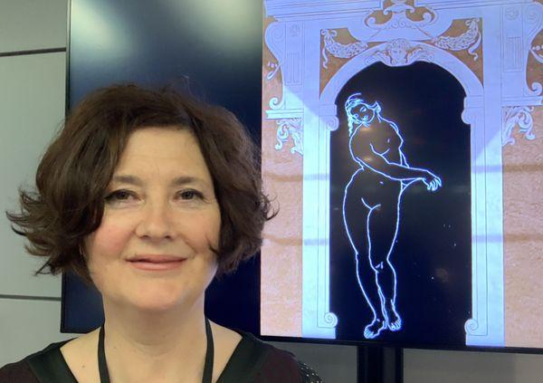 Corinne Tual et ses fresques (conservatoire muro dell arte)