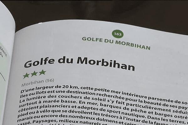 Guide vert Michelin : 3 étoiles pour le Golfe du Morbihan