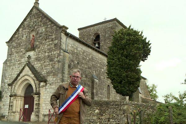 Alain Castang, maire de Rouffignac-de-Sigoulès en Dordogne
