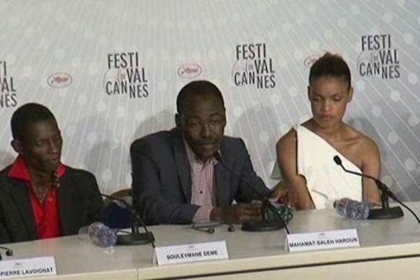 """Mahamat-Saleh Haroun présente son film  """"Grisgris"""" en compétition officielle à Cannes."""