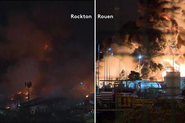 Un incendie similaire à celui de Rouen en 2019 a eu lieu dans une usine Lubrizol aux Etats-Unis en juin 2021.