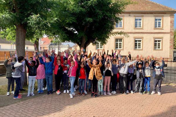 Les élèves de l'école élémentaires du nord à Illkirch récompensés pour les actions mises en œuvre en faveur de l'environnement