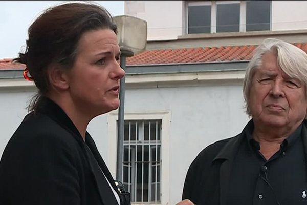 Sylvie Chéreau, à l'origine du collectif de Saint-Gaudens, et maître Jacques Levy, son avocat.