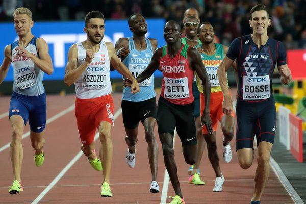 Pierre-Ambroise Bosse, champion du monde du 800 mètres, à Londres, le 8 août 2017.