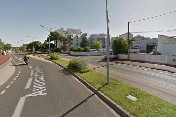 L'avenue Daniel Hedde à Royan (17).