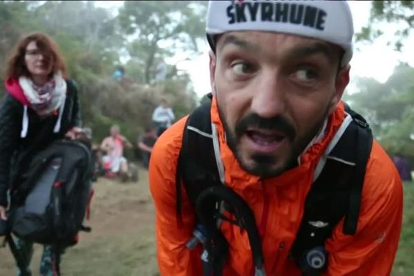 Fabrice Huré dans le documentaire La montagne dans le sang