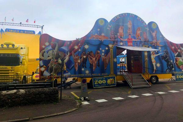 Le cirque de Rome s'est installé pour deux jours à Avallon dans l'Yonne