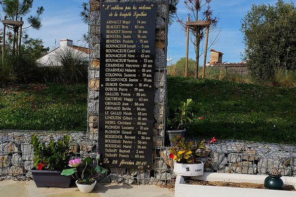 Mémorial aux 29 victimes de la tempête Xynthia du 28 février 2010 à La Faute-sur-Mer