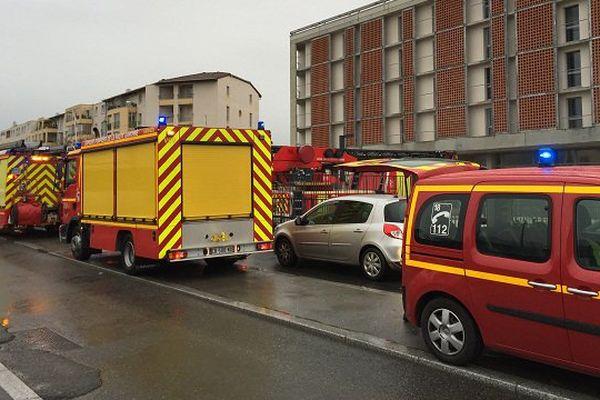 Les pompiers sur place