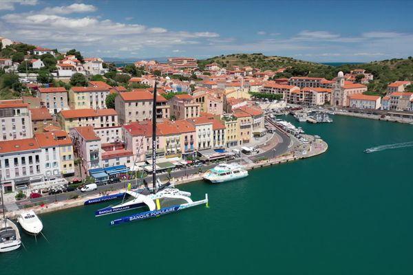 Armel Le Cléac'h, l'un des meilleurs navigateurs au monde, a fait escale quelques jours à Port-Vendres à bord de son nouveau trimaran géant.