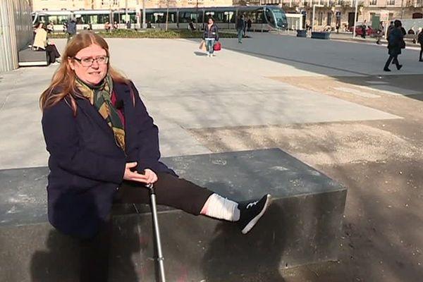 Floriane Chabot a reçu un projectile dans la jambe le 12 janvier dernier, lors d'une manifestation de gilets jaunes.