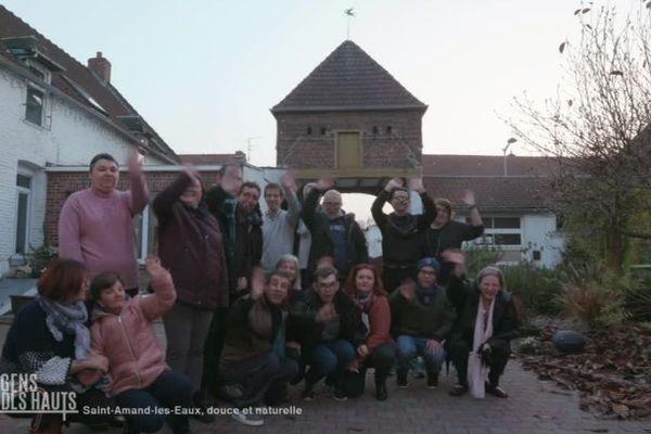 Les bénéficiaires de la ferme thérapeutique de Saint-Amand-les-Eaux
