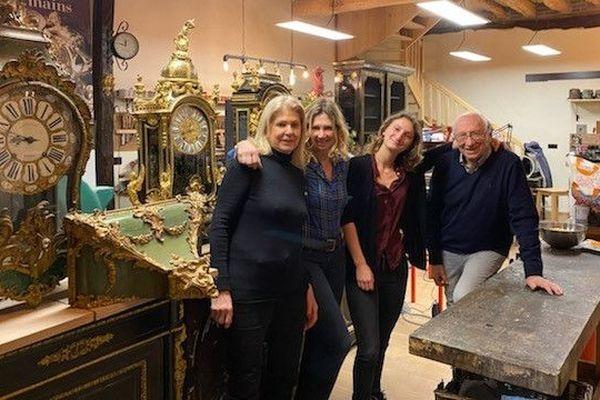 Colette,Marie-Hélène, Aurore et Jacques Poisson: 3 générations pour la transmission d'un métier d'Art