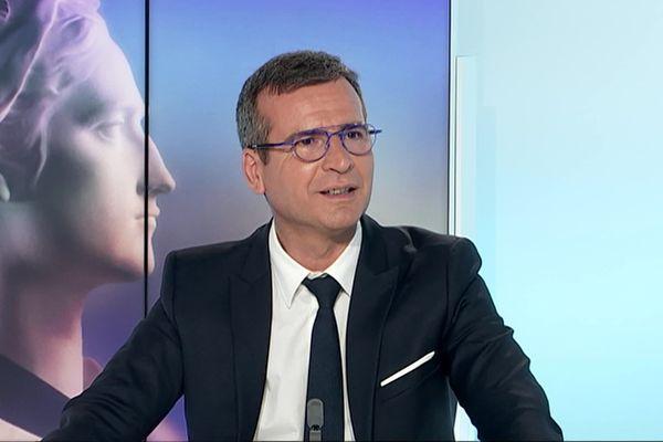 Hervé Blanché pendant la campagne électorale des municipales 2020