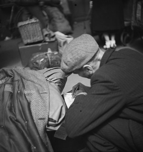 Réfugié dans la gare Matabiau de Toulouse