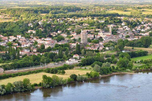 Oudon sur le bord de la Loire