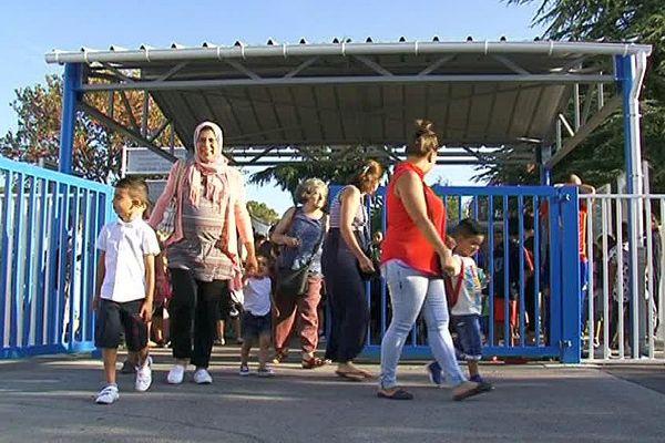 Montpellier - rentrée à l'école maternelle de la Mosson - 1er septembre 2016.