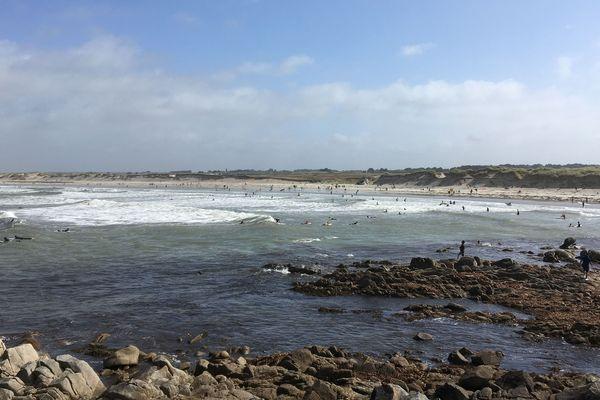 La plage de La Torche dans le sud Finistère