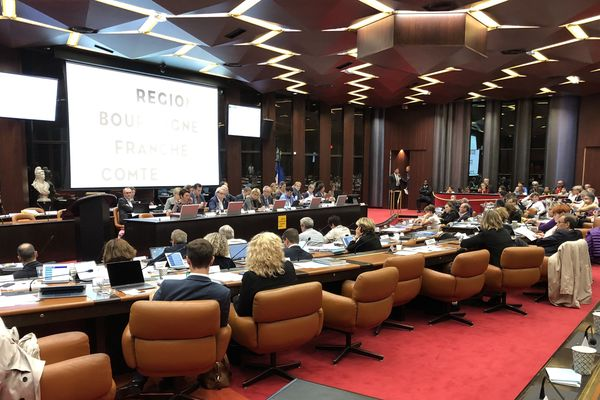 Le salle du Conseil Régional de Bourgogne-Franche-Comté