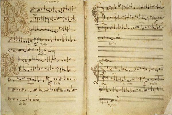 Manuscrit numérisé de Missa de Beata Virgine, par Josquin des Prés, XVIe siècle