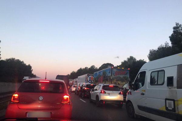 Ce lundi matin dans le centre Var, gros ralentissement sur l'A8 direction Nice-Aix suite à un accident.
