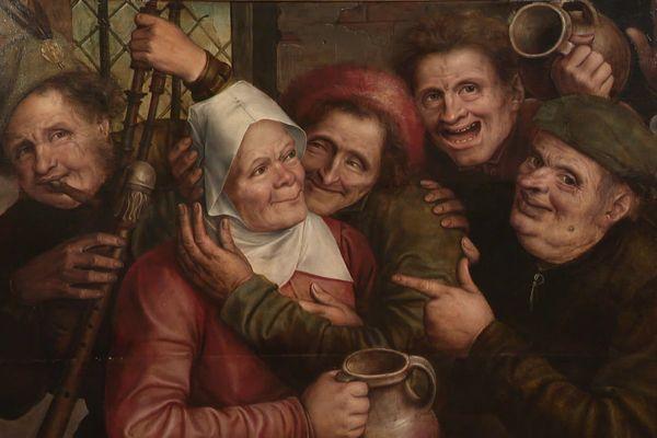 """""""La joyeuse compagnie"""" de Jan Matsys, peintre flamand du XVIéme siècle expliqué dans Là où ça Bouge"""