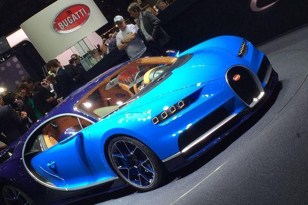 La star du salon : la Bugatti Chiron