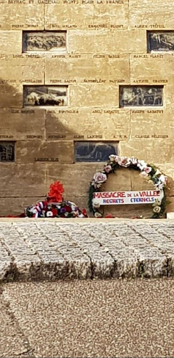La gerbe polémique déposée le 11 novembre à Beynac