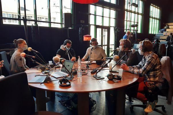 Radio Plouf émet depuis le studio installé au centre chorégraphique national de Rennes