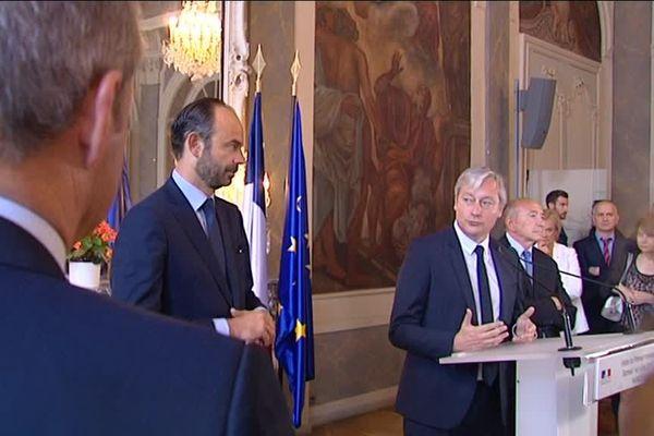 Le Premier Ministre et le Maire de Nancy à l'Hôtel de Ville