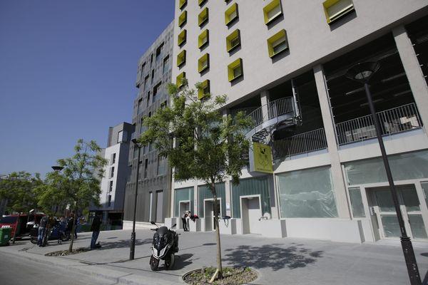La résidence étudiante dans laquelle Sid Ahmed Ghlam a été interpellé dimanche 19 avril 2015.