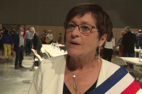 Marie-Françoise Fournier lors du conseil municipal du 4 juillet 2020 qui l'a élue maire