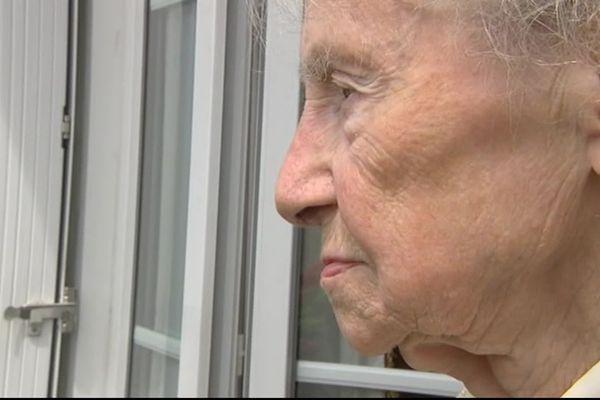 Janine Hardy a vécu dans les abris du lycée Malherbe pendant 12 ans après la guerre, alors qu'elle avait tout perdu sous les bombardements