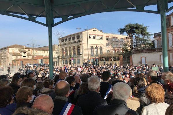 """Manifestation à Montauban en """" soutiens à Brigitte Barèges"""", condamnée à une peine d'inéligibilité par la justice pour détournement de fonds publics"""