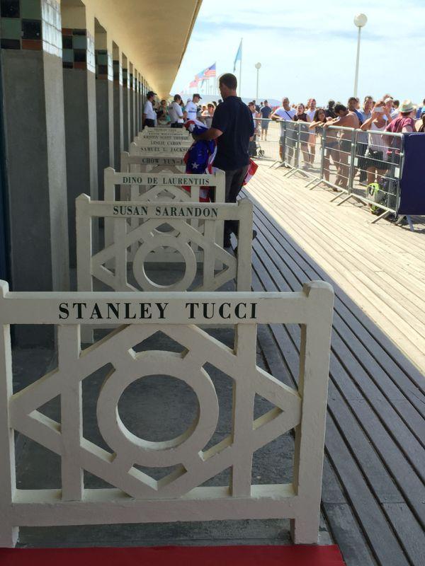 La cabine de plage de Stanley Tucci à Deauville