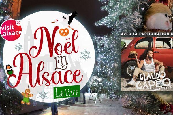 """Rendez-vous dimanche 13 décembre, 18h30, pour """"Noël en Alsace, le live""""."""