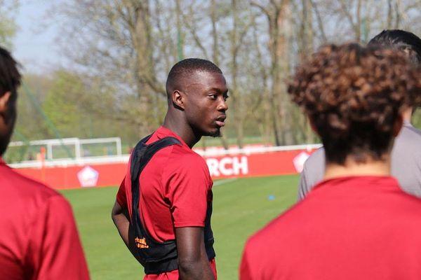Nicolas Pépé à l'entraînement avec le LOSC en avril dernier.