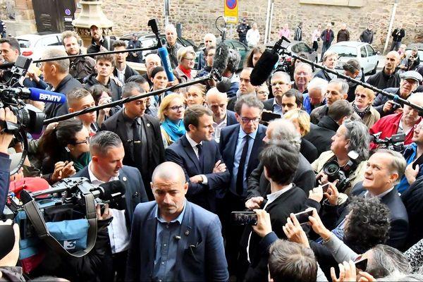 Emmanuel Macron en visite à Rodez en 2017