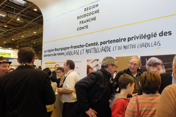 Un des stands de la région Bourgogne-Franche-Comté au Salon de l'Agriculture