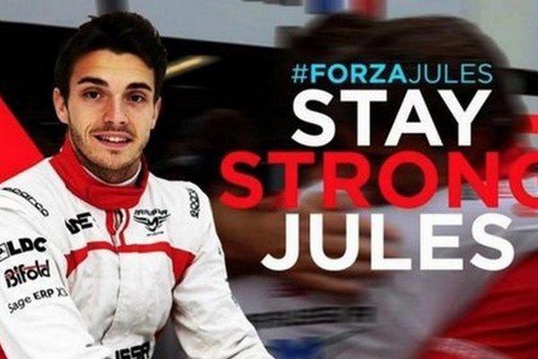 """Il ne se passe pas une journée, depuis ce tragique 5 octobre à Suzuka, sans que Fernando Alonso, Romain Grosjean ou un fan anonyme ne poste un """"Forza Jules"""" sur les réseaux sociaux."""