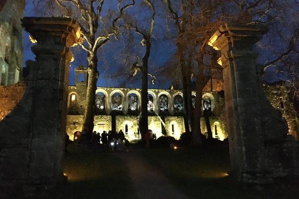 La mise en lumière de l'abbaye de Paimpol