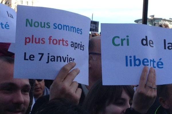 Montpellier - les slogans pour la liberté - 11 janvier 2015.
