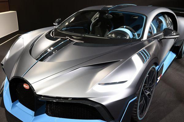 La dernière née des voitures de luxe de Bugatti, la Divo (ici exposée au Mondial de l'Automobile de Paris en 2018), devrait pouvoir être admirée des visiteurs de la 2e édition du salon Auto-Moto Classic de Strasbourg.