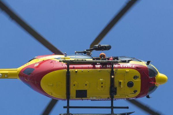 l'helicoptere de la sécurite civile
