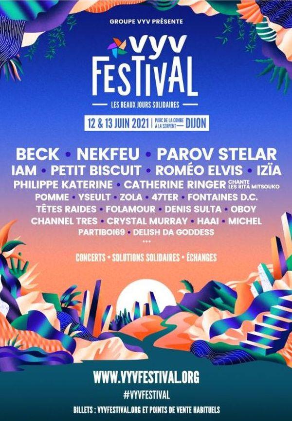 L'affiche de l'édition 2021, la seconde du Festival Vyv