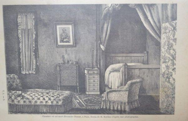Chambre où est mort Alexandre Dumas père, Puys (Dieppe)