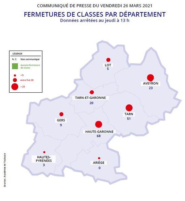 179 classes sont fermées dans l'académie de Toulouse.
