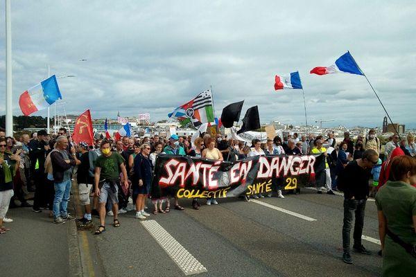 Comme chaque samedi, les personnels soignants du collectif santé 29 étaient présents à la manifestation de Brest ce 11 septembre