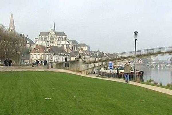 Les quais de l'Yonne à Auxerre
